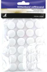 Witte Klittenband Kangaro zelfklevend rond 20 mm 24 stuks