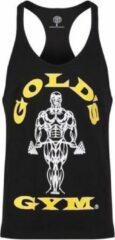 Zwarte Gold's gym GGVST003 Muscle Joe Premium String Vest - Black - L