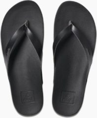 Zwarte Reef Cushion Bounce Court Dames Slippers - Black - Maat 40