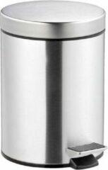 Khadija Pedaalemmer / RVS / zilver / 5 L / 5 liter / prullenbak / 20.5 x 29 cm / kantoor / slaapkamer / keuken / badkamer / toilet