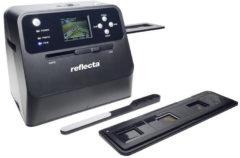 Reflecta Combo Album Scan Negatiefscanner, Diascanner, Fotoscanner 4416 x 2944 pix Werkt ook op batterij, Geïntegreerd display, Speciaal geschikt voor boeken,