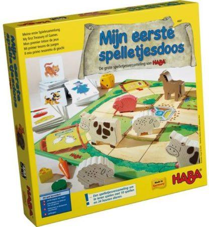 Afbeelding van Spel - Mijn eerste spelletjesdoos - De grote spelletjesverzameling van HABA (Nederlands) = Duits 4278 - Frans 4686