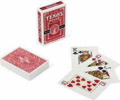 Dal Negro speelkaarten Texas 8,9 cm PVC rood 55-delig