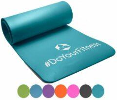 #DoYourFitness fitness mat - »Sharma« - non-slip, duurzaam, huidvriendelijk, slijtvast - 183 x 61 x 0,8cm - turquoise