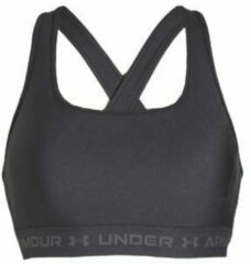 Under Armour - Women's Crossback Mid Bra - Sportbeha maat XS, zwart