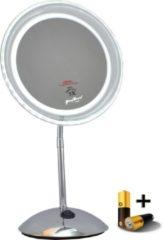 Gerard Brinard Gérard Brinard verlichte spiegel LED spiegel incl. batterij & adapter - 5x vergroting - Ø20cm