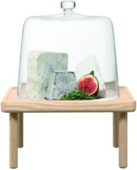 LSA Stilt Kaasstolp - Met Houten Standaard - Glas