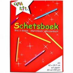 CreaKit Crea-kit Schetsblok Junior A3 Papier Wit 20 Vellen
