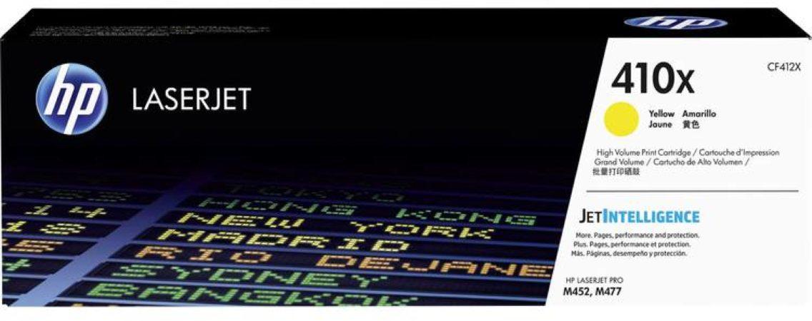 Afbeelding van HP 410X CF412X Tonercassette Geel 5000 bladzijden Origineel Tonercassette