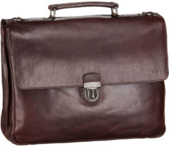 Bruine Leonhard Heyden Roma Briefcase 2 Compartments brown