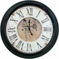 Donkerbruine Modernklokken.nl GROTE INDUSTRIËLE WANDKLOK Ø 85 CM
