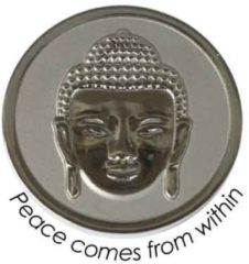 Quoins QMOZ-04-M-E Disk Peace comes from within zilverkleurig Medium