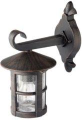 Brilliant Jordy 45582/60 Buitenlamp (wand) Energielabel: Afhankelijk van de lamp LED E27 60 W Zwart, Roest