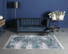 Joy de Vivre Vintage vloerkleed - Nostalgia No.2 - blauw 70x140 cm