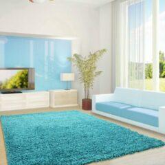 Life Hoogpolig Vloerkleed - Cannes - Turquoise - 200 x 290 cm - Vintage, Patchwork, Scandinavisch & meer stijlen vind je op WoonQ.nl