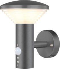 Antraciet-grijze Luxform Bitburg Wandlamp - 230V & PIR