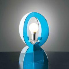 Vesta Lampada da tavolo in metacrilato BASCO 30xh43 cm realizzata interamente in metacrilato con filo 1,60 cm colore celeste trasparente