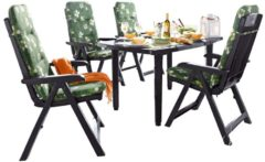 Gartenmöbel-Set, 9-tlg. grün