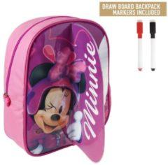 Cerda Disney Minnie Mouse Rugzak met Schrijfgedeelte + 2 Markers 25x31x10 cm Roze