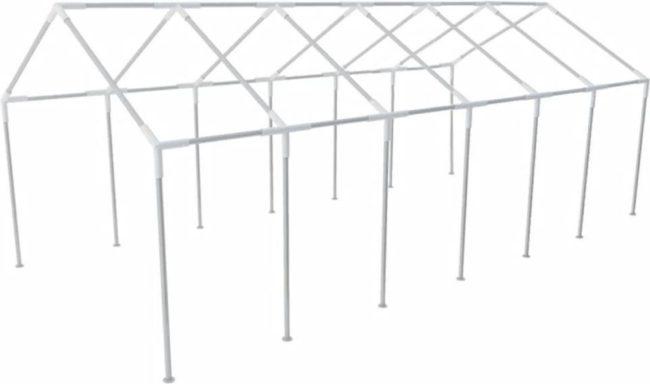 Afbeelding van Zilveren VidaXL Stalen frame voor een party tent 12 x 6 m