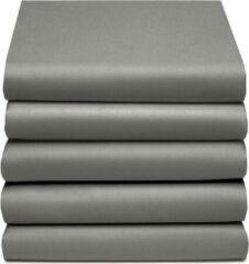 Antraciet-grijze TotaalBED Hoeslaken - antraciet/grijs - satijn - voor topmatras & matras - 180x220