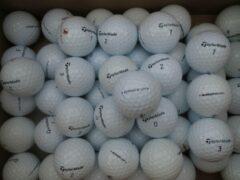 Witte Golfballen gebruikt/lakeballs Taylormade 25 stuks in meshbag