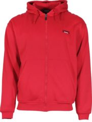 Rode Donnay sweater met capuchon - Sporttrui - Heren - Maat S - Rood