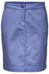 Blauwe Rok in chino-stijl