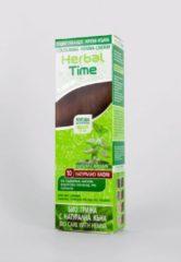 Bruine Rosa Impex HERBAL TIME Natural Brown nr.10 BIO CARE Kant-en Klare Crème Natuurlijke Haarverf Zonder Ammoniak, Ammonia, PPD, PTD, Peroxide, Waterstofperoxide etc. o.a. Henna 75ml