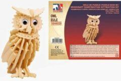 Merkloos / Sans marque Houten dieren 3D puzzel uil - Speelgoed bouwpakket