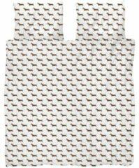 Bruine SNURK James Dekbedovertrek 120 x 150 cm