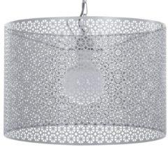 Zilveren Beliani Mezen Hanglamp Metaal 44 X 44 Cm