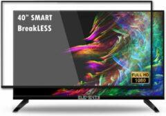 "Zwarte ELEMENTS SMART TV 40"" INCH ANDROID 9.0 BREAKLESS GLASS"
