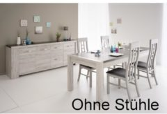 Esstisch mit Sideboard 'Malone 6' Portofino-Grey Parisot Portofino Grey / Steinoptik