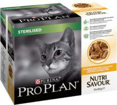 PROPLAN Kat Pro Plan Kat Sterilised Nutrisavour - Kip - Kattenvoer - 10 x 85 g