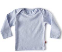 Donkerblauwe Little Label - baby - T-shirt - lichtblauw - maat 56 - bio-katoen