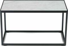 Spinder Design Tijl Bijzettafel 60x30x35 - Zwart/Wit