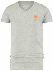 Licht-grijze Vingino Essentials basic T-shirt lichtgrijs melange