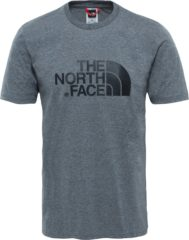 Grijze The North Face S/s Easy Tee - Eu Outdoorshirt Heren - TNF Medium Grey Heather (Std)