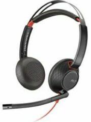 Plantronics C5220 Blackwire Telefoonheadset USB-C, 3.5 mm jackplug Kabelgebonden On Ear Zwart