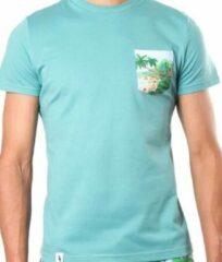 Groene Sanwin Beachwear Molokai Heren T-shirt Maat M