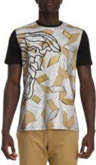 Nero VERSACE COLLECTION T-shirt A Maniche Corte Con Stampa Medusa Versace E Dettagli Metal