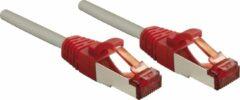 Rode Lindy Rj45/Rj45 Cat6 0.5m 0.5m Cat6 S/FTP (S-STP) Grijs, Rood netwerkkabel