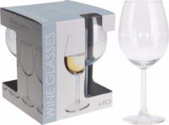 Merkloos / Sans marque 8x Wijnglazen transparant set 430 ml - 8-delig - wijnglas/drinkglazen