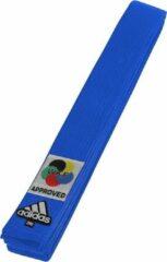 Adidas karateband Elite WKF Logo blauw maat 320 cm