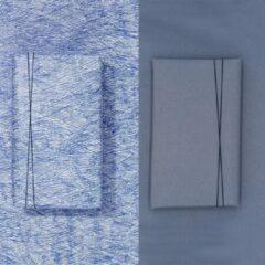 Paperoni - Bundel Scribble Cherry - luxe cadeaupapier - inpakpapier - 2 rollen met bijpassend koord - Rood-Bruin