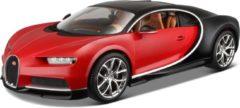 Bburago Modelauto Bugatti Chiron 1:18 rood - speelgoed auto schaalmodel
