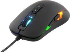 DELTACO GAM-029 Optische gaming muis, 7 knoppen, LED verlichting, USB 2.0, max. 2000 DPI zwart