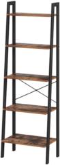 MIRA home MIRA boekenkast - Industrieel - 5 Planken - Zwart/bruin