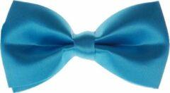 S.Y.W Vlinderstrik voor kinderen glimmend turquoise